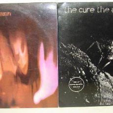 Discos de vinilo: LOTE 2 VINILOS - THE CURE - PORNOGRAPHY - THE UPSTAIRS ROOM, POLYDOR 1982 - 1984. Lote 82874064