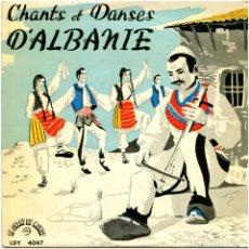 Discos de vinilo: VVAA ?– CHANTS ET DANSES D'ALBANIE - EP FRANCE - LE CHANT DU MONDE LDY-4047 . Lote 82876200