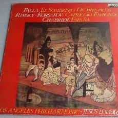 Discos de vinilo: FALLA - EL SOMBRERO DE TRES PICOS - JESUS LOPEZ-COBOS - 1981 - LP - NUEVO. Lote 82890856