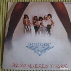Discos de vinilo: SOBREDOSIS SG CHAPA 1985 PROMO DINERO MUJERES Y ROCK +1 HEAVY METAL OBUS PANZER. Lote 82933036
