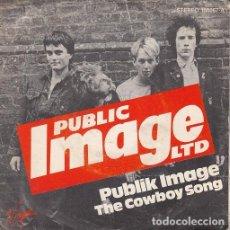 Discos de vinilo: PUBLIC IMAGE LTD P.I.L. SEX PISTOLS - PUBLIK IMAGE - SPANISH SINGLE 45 SPAIN 1978 PUNK. Lote 82940516