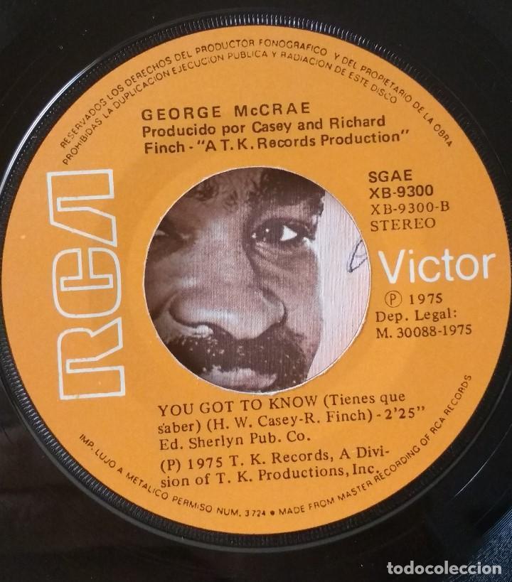 Discos de vinilo: George Mc Crae - It´s Been so Long - You got to know - RCR - 1975 - Foto 2 - 82976380