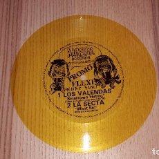 Discos de vinilo: FLEXI PROMOCIONAL AMARILLO DE LOS VALENDAS Y LA SECTA. MUNSTER RECORDS. Lote 83019332