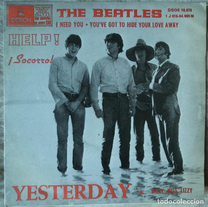 THE BEATLES - YESTERDAY - EDICIÓN DE 1965 DE ESPAÑA - LABEL AZUL CLARO (Música - Discos de Vinilo - EPs - Pop - Rock Extranjero de los 50 y 60)