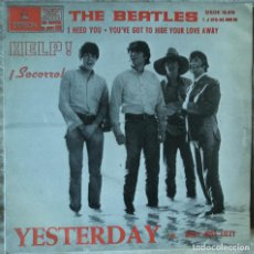 Disques de vinyle: THE BEATLES - YESTERDAY - EDICIÓN DE 1965 DE ESPAÑA - LABEL AZUL CLARO. Lote 83049880