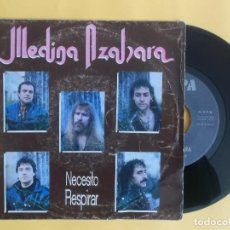 Discos de vinilo: MEDINA AZAHARA - NECESITO RESPIRAR - MUSICA SINGLE VINILO. Lote 157000605