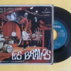 Discos de vinilo: LOS BRAVOS - BRING A LITTLE LOVIN - MUSICA SINGLE VINILO. Lote 83065328