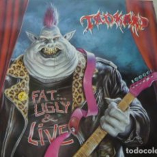 Discos de vinilo: TANKARD. FAT, UGLY AND LIVE. NOISE INTERNATIONAL N 0166 LP 1991 GERMANY. Lote 83087036