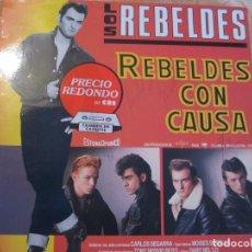 Discos de vinilo: LOS REBELDES, REBELDES CON CAUSA,LP FIRMADO AÑO 1985. Lote 83146404