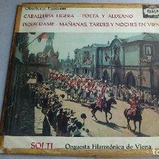 Discos de vinilo: OBERTURAS FAMOSAS - SUPPÉ - ORQUESTA FILARMÓNICA DE VIENA - LP 200GR - 1960. Lote 83176260