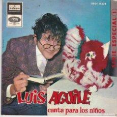Discos de vinilo: SINGLE LUIS AGUILÉ CANTA PARA LOS NIÑOS. 1971 SPAIN (DISCO PROBADO Y BIEN). Lote 83187148