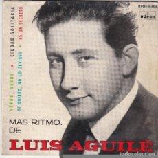 Discos de vinilo: SINGLE LUIS AGUILÉ. VERDE, VERDE 1964 SPAIN (DISCO PROBADO Y BIEN). Lote 83187684