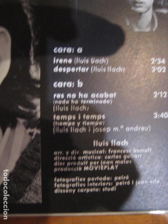 Discos de vinilo: LLUIS LLACH EP MOVIEPLAY 1969 irene/ despertar +2 FOLK CATALAN SERRAT Mª MAR BONET - Foto 4 - 183415085