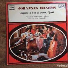 Discos de vinilo: MUSICA LP JOHANNES BRAHMS SINFONIA 1 EN DO MENOR OP.68. Lote 83278296
