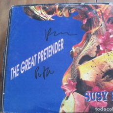 Disques de vinyle: SUSY B. - THE GREAT PRETENDER - MAXISINGLE EUROBEAT 1992. Lote 83286476