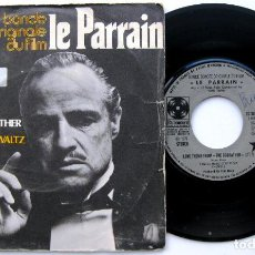 Discos de vinilo: NINO ROTA - BANDE ORIGINALE DU FILM LE PARRAIN (EL PADRINO) - SINGLE PARAMOUNT 1972 FRANCIA BPY. Lote 83311284