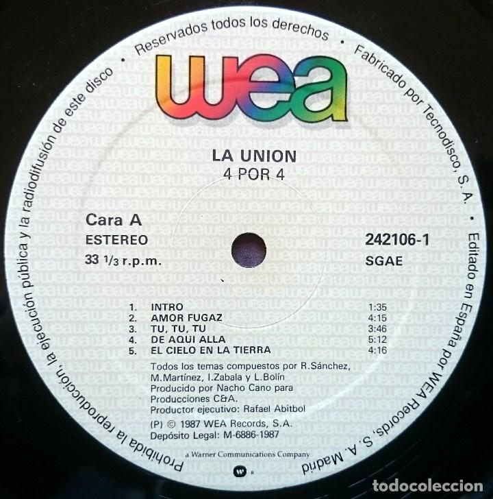 Discos de vinilo: La Unión: 4x4, LP WEA 242106-1. Spain, 1987. EX/VG - Foto 2 - 83375708