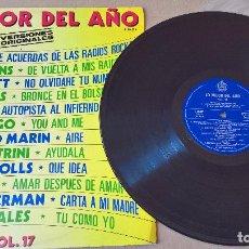 Discos de vinilo: MUSICA LP LO MEJOR DEL AÑO 17 AC/DC RAMONES Y JOSE LUIS PERALES JUNTOS UAHH¡. Lote 83386284