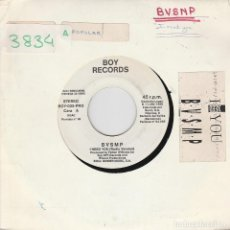Discos de vinilo: BVSMP / I NEED YOU + INSTRUMENTAL (SINGLE PROMO 1988). Lote 83395956