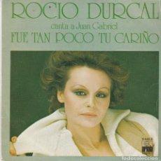 Discos de vinilo: SINGLE ROCÍO DÚRCAL. FUE TAN POCO TU CARIÑO. 1977. SPAIN. DISCO PROBADO Y BIEN.. Lote 83399540