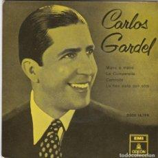 Discos de vinilo: SINGLE CARLOS GARDEL. MANO A MANO. 1958 SPAIN. DISCO PROBADO Y BIEN, COMO NUEVO. Lote 83400516