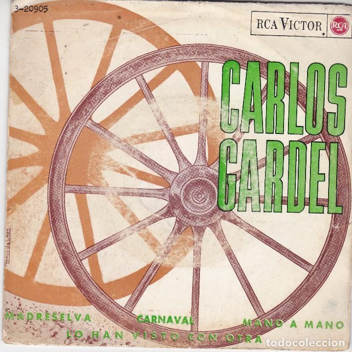 SINGLE CARLOS GARDEL. MADRESELVA. 1965 SPAIN. DISCO PROBADO Y BIEN. (Música - Discos - Singles Vinilo - Grupos y Solistas de latinoamérica)