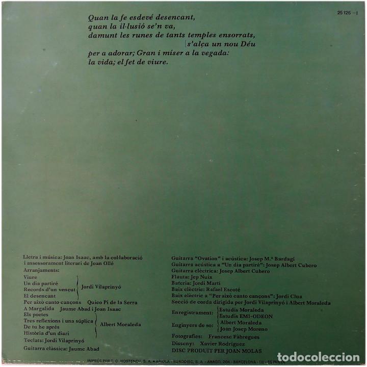 Discos de vinilo: Joan Isaac - Viure - Lp Spain 1977 - Ariola 25 126 - Foto 2 - 83413816
