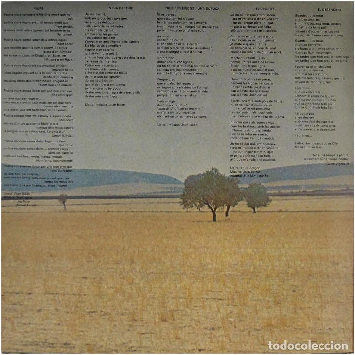 Discos de vinilo: Joan Isaac - Viure - Lp Spain 1977 - Ariola 25 126 - Foto 3 - 83413816