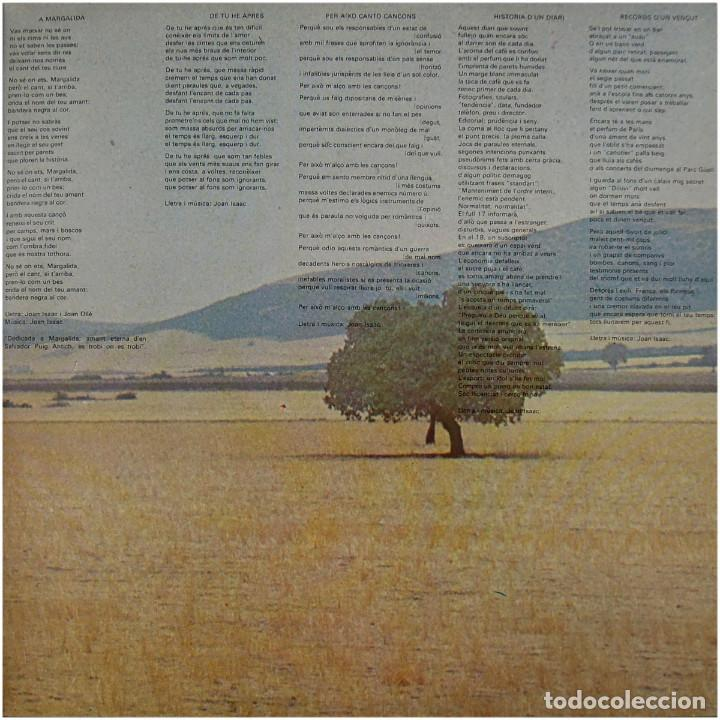 Discos de vinilo: Joan Isaac - Viure - Lp Spain 1977 - Ariola 25 126 - Foto 4 - 83413816