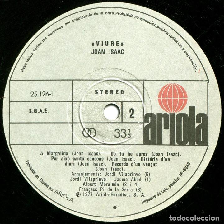 Discos de vinilo: Joan Isaac - Viure - Lp Spain 1977 - Ariola 25 126 - Foto 6 - 83413816