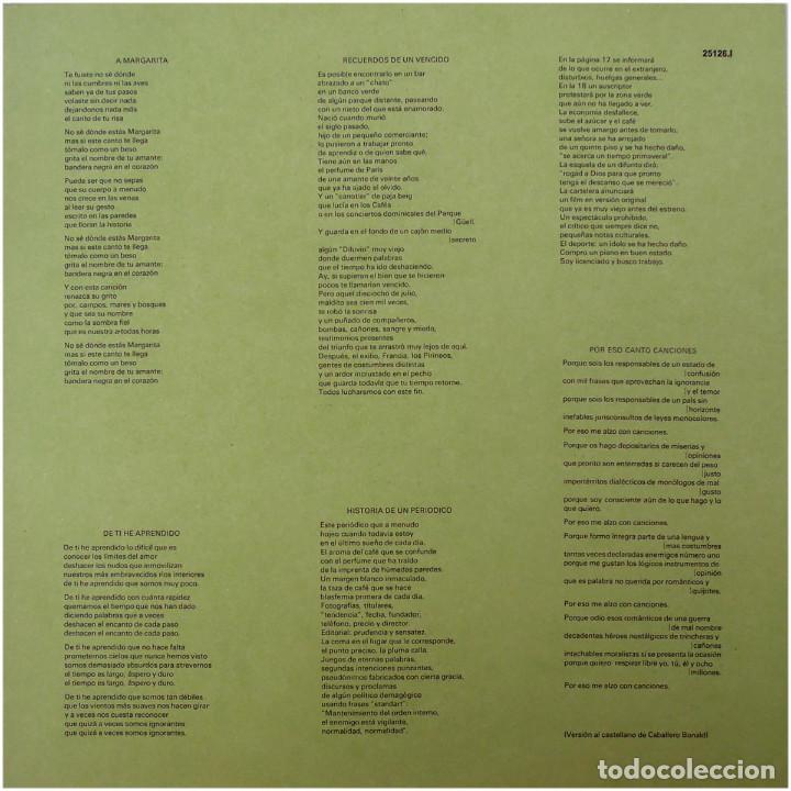 Discos de vinilo: Joan Isaac - Viure - Lp Spain 1977 - Ariola 25 126 - Foto 7 - 83413816