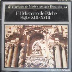 Discos de vinilo: EL MISTERIO DE ELCHE, ÁLBUM CON 2 DISCOS Y ENCARTES CON TEXTOS DESCRIPTIVOS EN 3 IDIOMAS.-- 1972. Lote 83425512