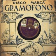 Discos de vinilo: DISCO PIZARRA ODEON PARA GRAMOFONO LA ORGIA DORADA - EL SOLDADITO - SARDANA. Lote 83455696