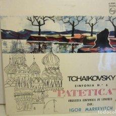 Discos de vinilo: TCHAIKOVSKY - SINFONIA Nº6 PATETICA - MONO - 1964 - PHILIPS - SPAIN - VG/VG. Lote 83456904