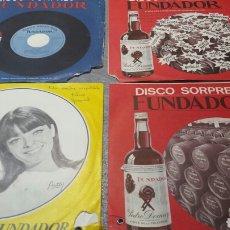 Discos de vinilo: LOTE DISCOS VINILO 45 RPM PUBLICIDAD FUNDADOR AÑOS 60. Lote 83466628