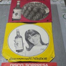 Discos de vinilo: LOTE 3 VINILOS PUBLICIDAD FUNDADOR AÑOS 60. Lote 83467408