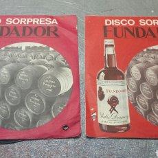 Discos de vinilo: LOTE 2 DISCOS DE VINILO PUBLICIDAD FUNDADOR AÑOS 60. Lote 83467810