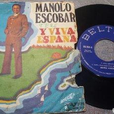 Discos de vinilo: VINILO 45 RPM AÑO 1973 MANOLO ESCOBAR. Lote 83468508