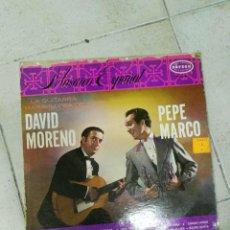 Discos de vinilo: LP DAVID MORENO PEPE MARCO. Lote 83481580