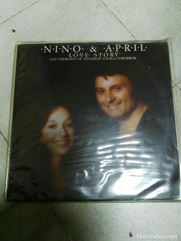LP NINO Y APRIL LOVE STORY (Música - Discos - LP Vinilo - Pop - Rock - Extranjero de los 70)