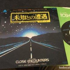 Discos de vinilo: JOHN WILLIAMS (CLOSE ENCOUNTERS, ENCUENTROS EN LA TERCERA FASE) SINGLE JAPAN (EPI6). Lote 83489908