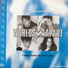 Discos de vinilo: WORLDS APART - I WAS BORN TO LOVE YOU . 1996 UK . Lote 83490132