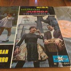 Discos de vinilo: LINA MORGAN Y JUANITO NAVARRO:RISA HUMOR JUERGA Y TRAGEDIA (LP.12