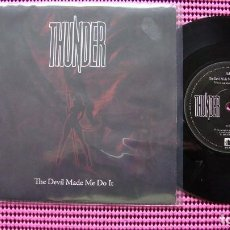 Discos de vinilo: THE DEVIL MADE ME DO IT THUNDER - SINGLE. Lote 83582664