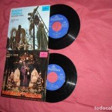 Discos de vinilo: MARCHAS DE SEMANA SANTA LOTE 2 SINGLES ORIGINALES VER FOTOS ADICIONAL. Lote 83593440