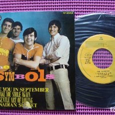 Discos de vinilo: THE THE SYMBOLS - SEE YOU IN SEPTEMBER EP SPAIN PROMO 1967 . Lote 83609124