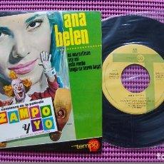 Discos de vinilo: ANA BELEN - - CANCIONES DE LA PELÍCULA ZAMPO Y YO DEL AÑO 1965 - MUY RARO. Lote 83612816