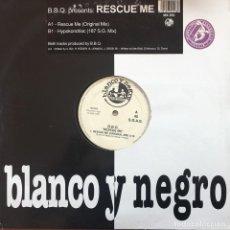 Discos de vinilo: BELL BOOK & CANDLE - B.B.Q.- RESCUE ME . 1997 BLANCO Y NEGRO . Lote 83632996