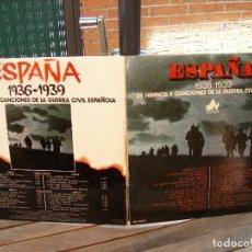 Discos de vinilo: ESPAÑA (1936-1939): 25 HIMNOS Y CANCIONES DE LA GUERRA CIVIL ESPAÑOLA: 2 LPS. Lote 83655100