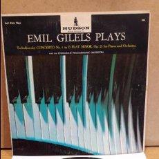 Discos de vinilo: EMIL GILELS PLAYS. TSCHAIKOWSKI CONCERTO Nº 1. LP / HUDSON-USA / MBC. ***/*** MUY RARO. Lote 83665828